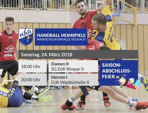 Letzter HSG-Heimspieltag – Saisonabschlussfeier