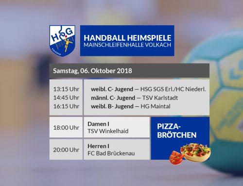 Zweiter Heimspieltag – Pizzabrötchen – 06.10.2018