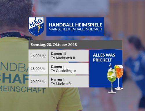 Dritter Heimspieltag – Alles was prickelt – 20.10.2018